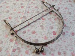 "6"" Gunmetal Loop Handle Purse Frame"