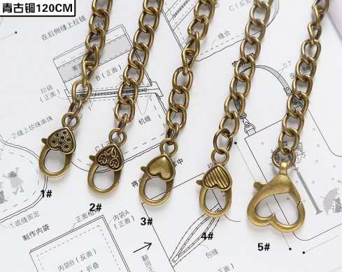 O-Ring Chain With Clasp Purse Chain