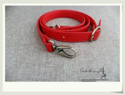 Wholesale Leather Handbag Red Handles 46.5 inch