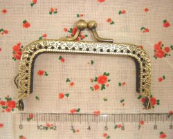 7.5cm antique bronze metal socks purse frames wholesale