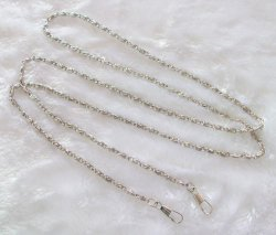 120CM Silver Plate Coin Purse Rope Shoulder Chain