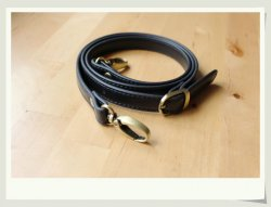 Black Leather Purse Straps 46.5 inch