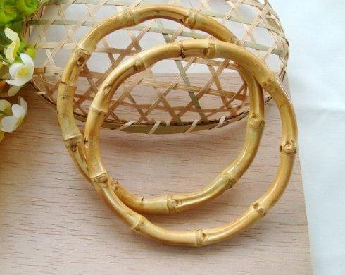 Bamboo Handbag Handles Whole For Craftsman 1 Pairs