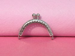 1PCS Nickel Purse Ring Kiss Lock Purse Frames 6.5CM