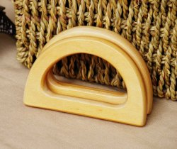 100mm D shared wood handles for purses