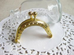 3.5cm gold small coin purse clasp metal purse frame