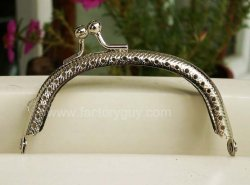 8.5CM Silver Pocketbook Handles Purse Frames